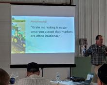 farmer seminar photo of presentation