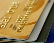gold color credit card