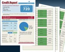 photo of credit report papers
