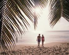couple in the tropics in retirement