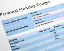 monthly budget speadsheet