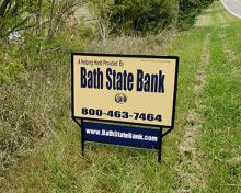 bath bank sign for mortgage or construction