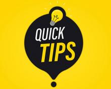 quick tips light bulb