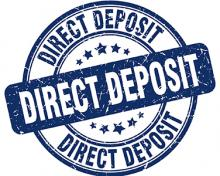 direct deposit blue stamp